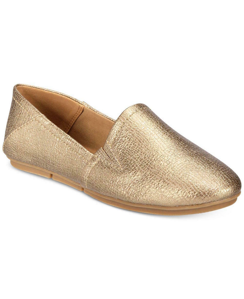 Style & Co. Womens Nixine Closed Toe Loafers, Gold, Size 5.0 US / 3 UK