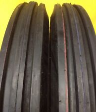 2) 400X19 4.00-19 400-19 F2 Triple Rib FORD 2N 9N Front Tractor Tires with Tubes