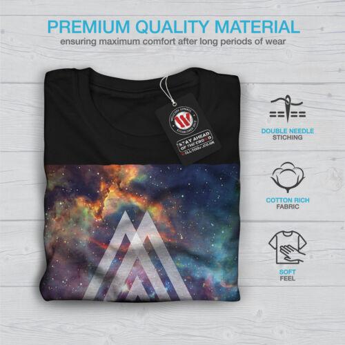 Wellcoda Space Triangle Womens Long Sleeve T-shirt Shapes Casual Design