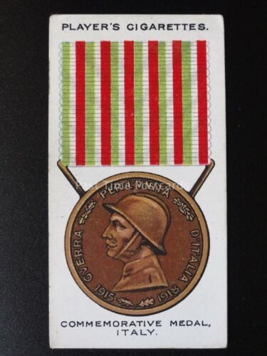 War Decorations /& Medals PLAYERS 1927 No.59 COMMEMORATIVE MEDAL Italy