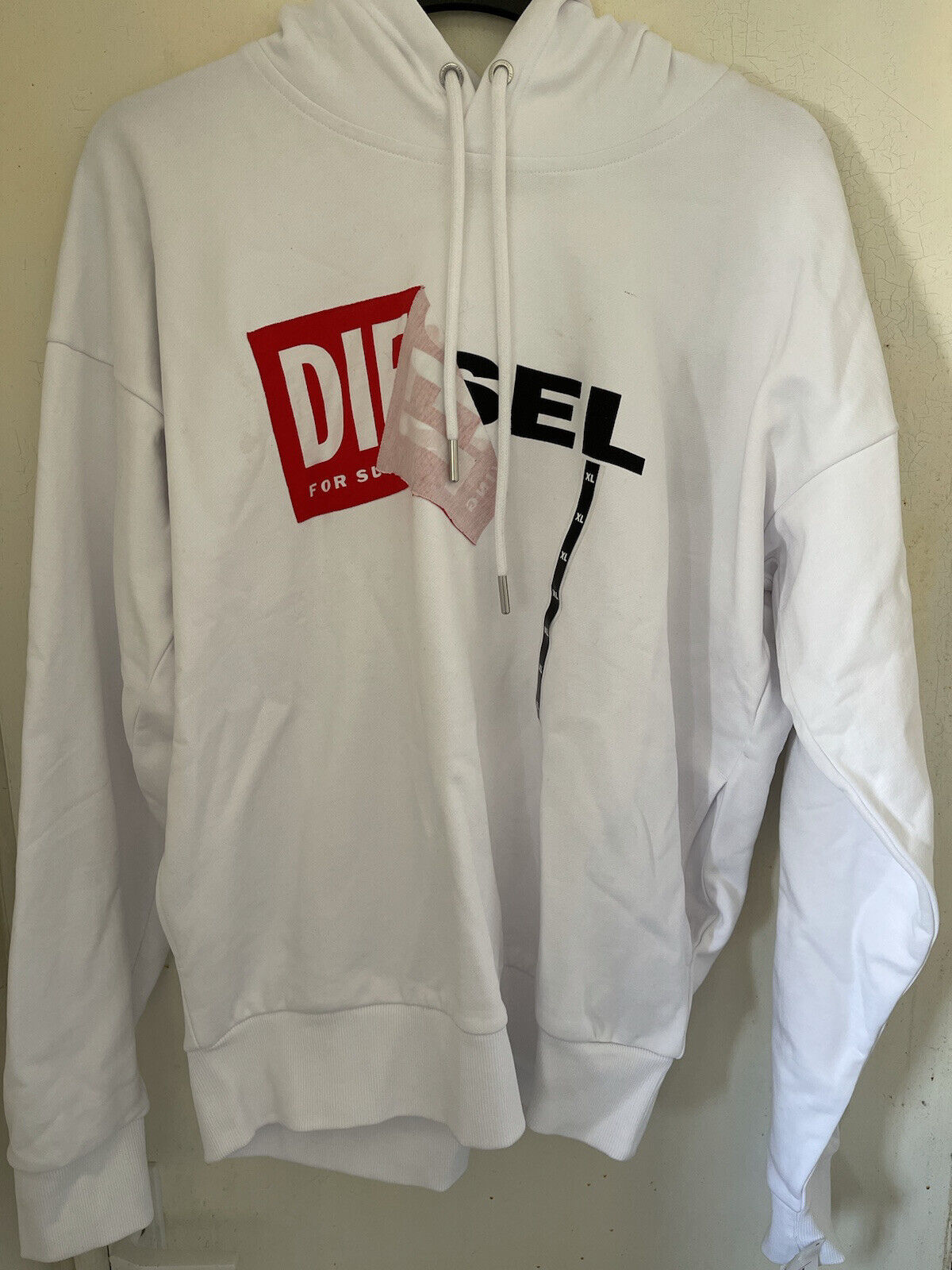 Vintage men's diesel S-Alby sweat-Shirt XL White RRP
