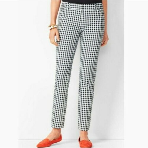 TALBOTS Hampshire Gingham Ankle Pants size 8