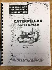 Cat Caterpillar D6 D6C Operator Manual Book Dozer Crawler Ser Num 74A1 up