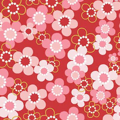 Benartex Fabric - Cherry Blossom Festival - Red Blossoms