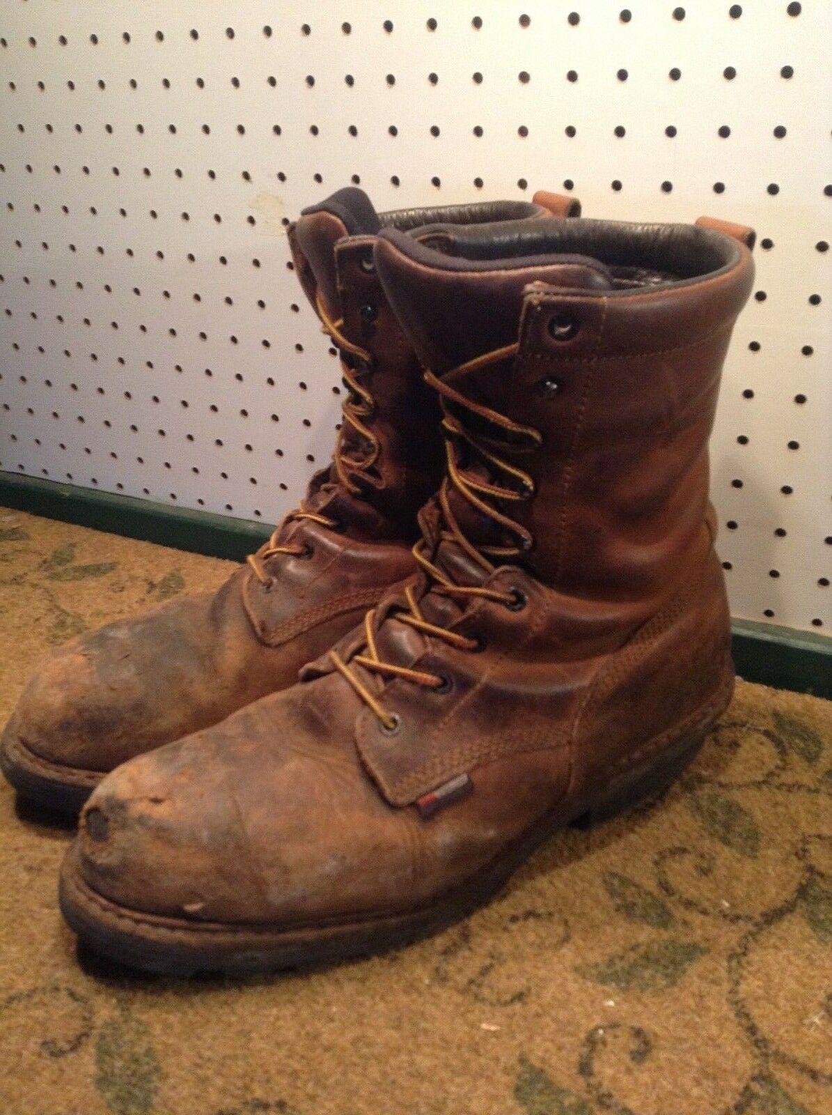 583726195bbfa RED WING 4420 BROWN STEEL TOE TOE TOE LOGGER WORK BOOTS SIZE 12 D ...