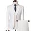 miniature 16 - Mens Suits Sets 3 Pcs Slim Fit Coats Tuxedos Groom Groomsman Formal Work Casual