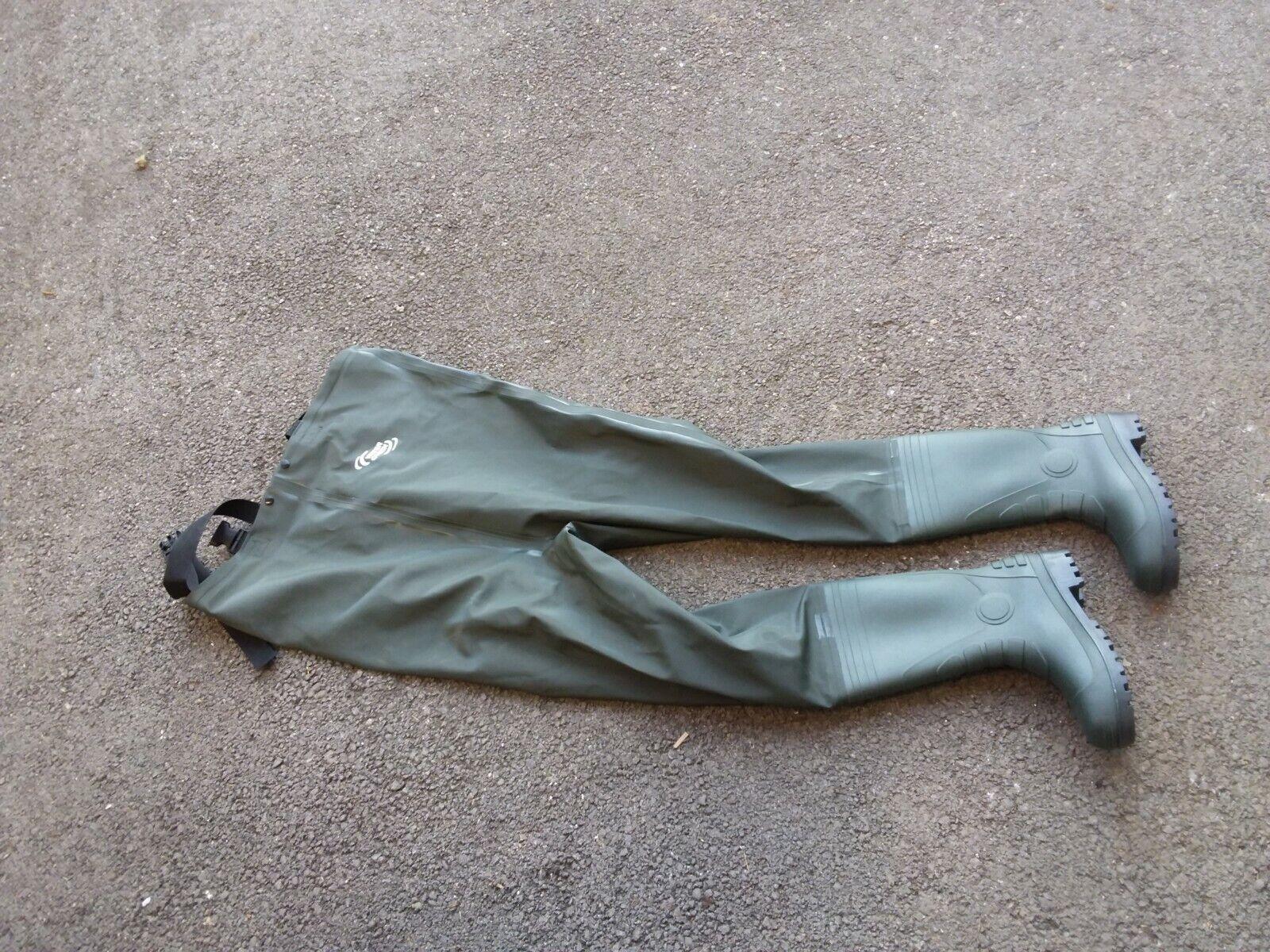 Wader pantalon de peche pvc water queen botte neuf size 38