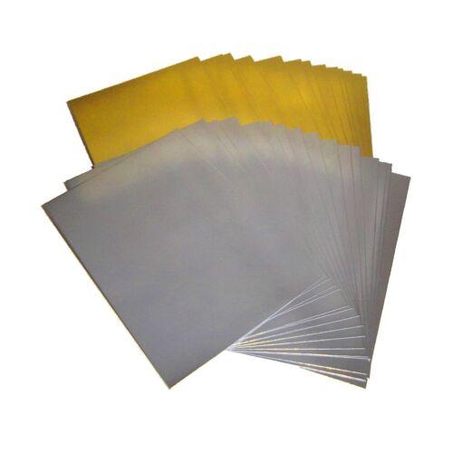 Artisanat. a5 /& Feuille A4 Taille Mariage a6 300gsm miroir cartonné Gold ou Silver