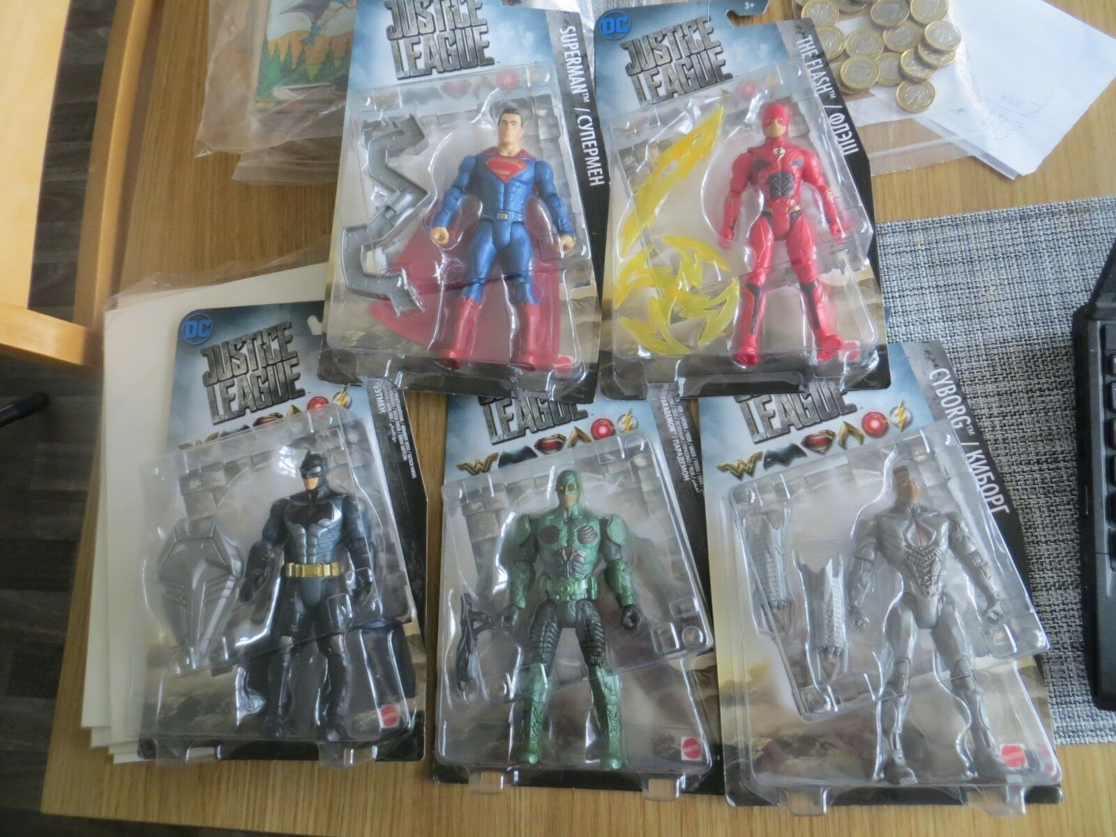 DC Justice League Flash   Parademon   Cyborg   Superman  Batman