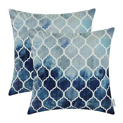 2pcs Grey Navy Blue Pillows Case