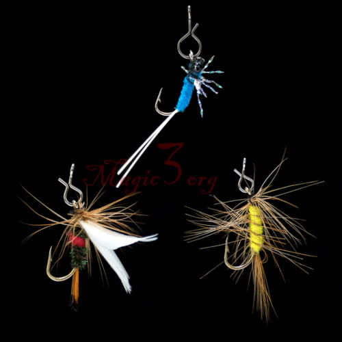50 Quick Change Snap Hook Clips for Fly Fishing Flies Small Medium Large Trout
