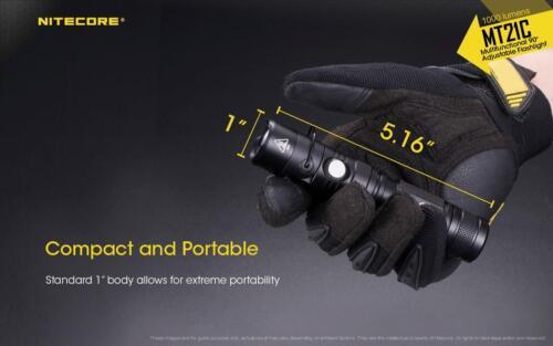 NITECORE MT21C 1000 Lumen Tilt Head Flashlight /& 3400mAh USB Rechargable Battery
