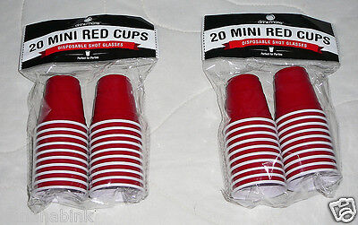 drinkmate 20 Mini Red Cups Disposable Shot Glasses 2 oz