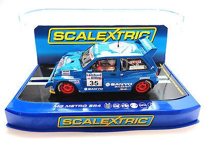 "100% Waar Scalextric ""sanyo"" Mg Metro 6r4 Dpr W/ Lights 1/32 Scale Slot Car C3639"