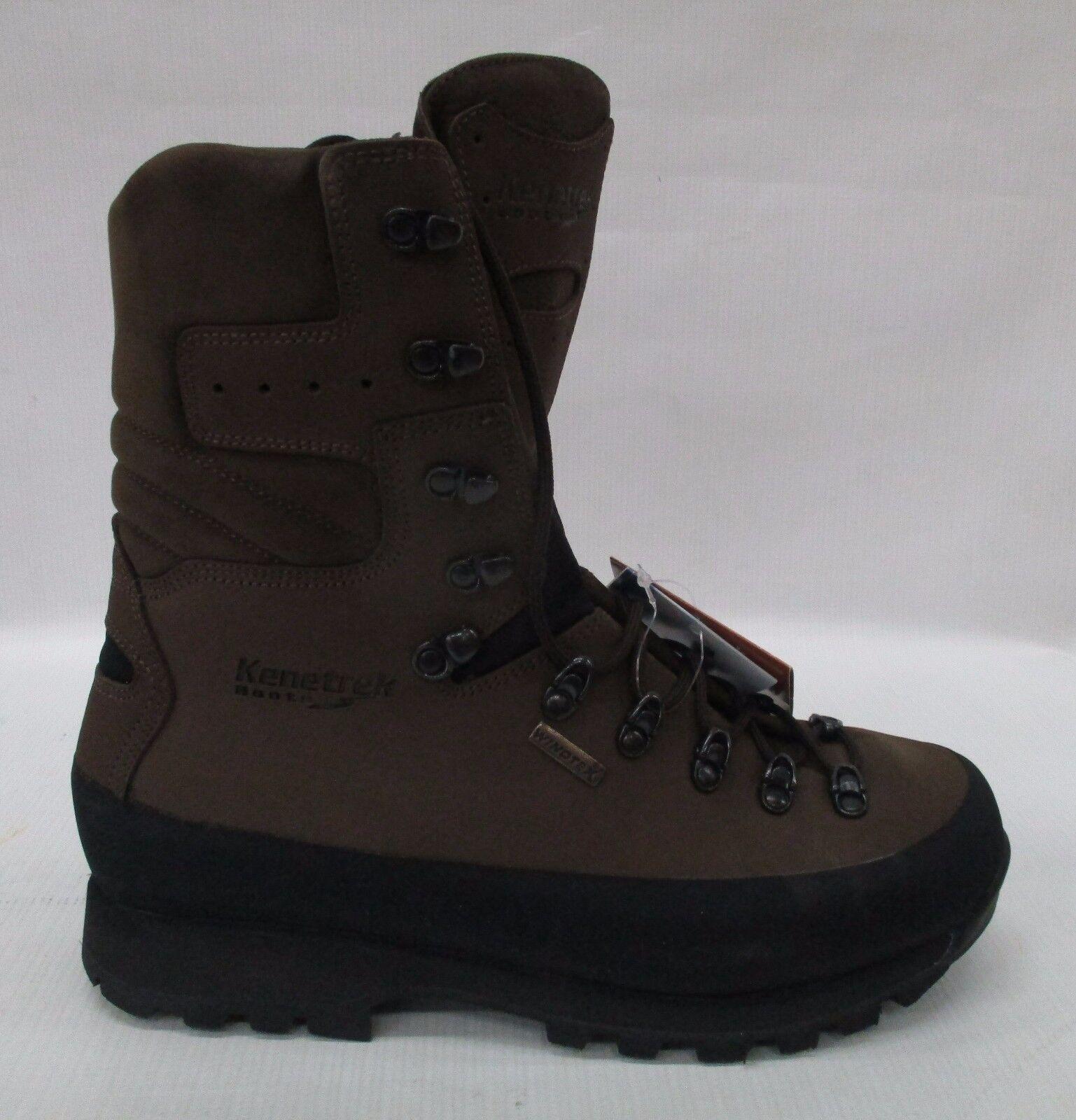 Kenetrek Uomo Pelle Mountain Extreme Stivali KE-420-NI Brown Pelle Uomo Size 12 67bd22