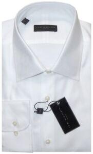 NEW-IKE-BEHAR-WHITE-DIAGONAL-TWILL-CLASSIC-FIT-DRESS-SHIRT-16-5-34-35
