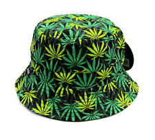 1eb820febf7 Bucket hat Cannabis Marijuana weed Boonie cap Fishing Hunting Outdoor  fashion
