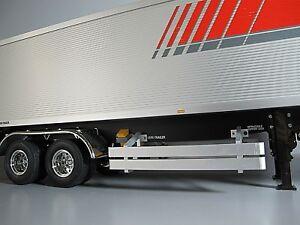 Details about Pair Aluminum Side Rail Step Bumper Guard Tamiya 1/14 Tractor  Truck Tank Trailer