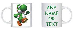 Yoshi Mario Bros Personalizado Taza Regalo De Cumpleanos D1 Envio