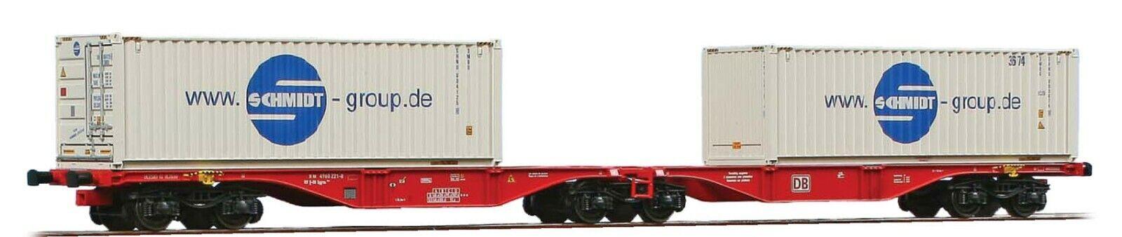 ACME 40354 DB AG Sggrss 80' livrea rossa, con 2 bulkcontainer 30' Schmidt Gro