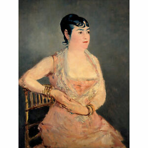 Edouard-Manet-Lady-In-Pink-Large-Canvas-Art-Print