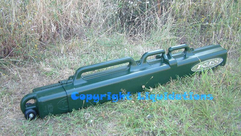 Wheeled KIS Ski Tube Sportube Ski Bag Carrier Fishing Rod Case with Wheels-Grün