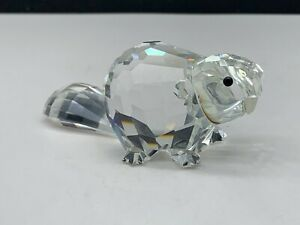 Details about Swarovski Figurine Crystal 164637 Large Beaver 3 1/8in Top  Condition