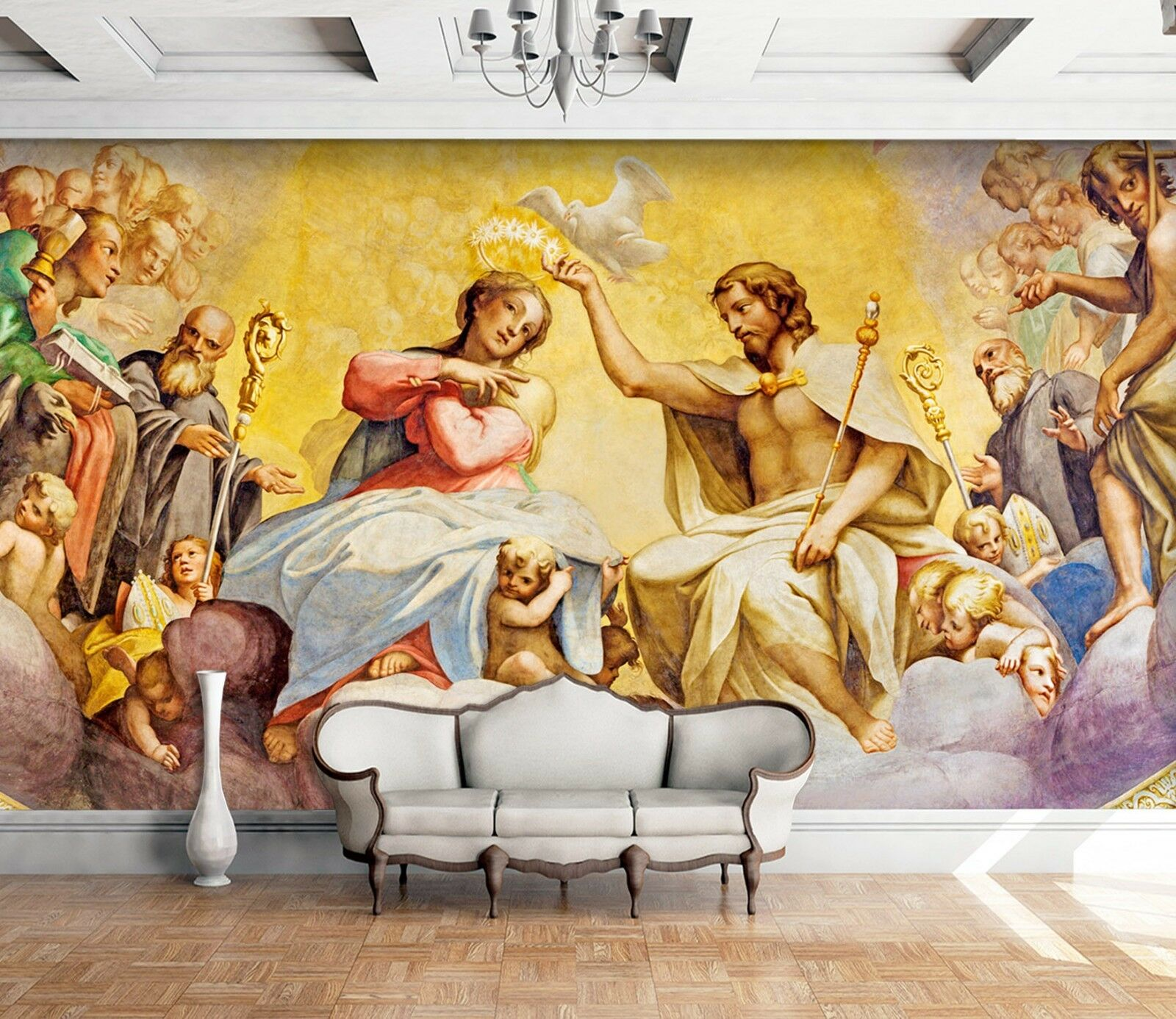 3D Adam And Eve Church 8 Wallpaper Mural Print Wall Indoor Wallpaper Murals UK