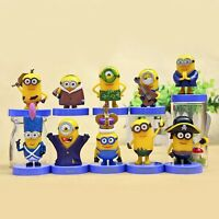 Cute 10pcs Despicable Me 2 Minions Action Figures Toy Movie Character Kids Gifts