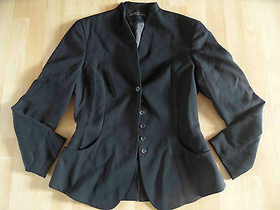 MARC CAIN Cool Suit Jacket, Black with Lacing Size N2 NEW 07-14