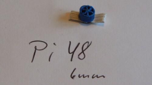 pi48 Orden Miniatur Rosette ca 6mm blau 1 Stück