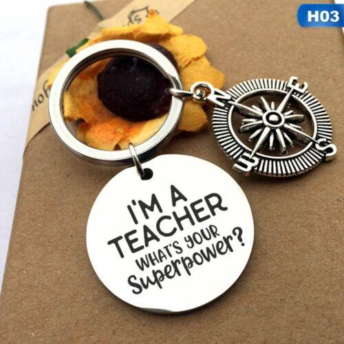 2020 He THANK YOU GIFT FOR TEACHER Teaching assistant Nursery teacher  Keyring