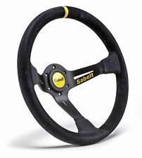 Sabelt SW-390 Rally/Race Steering Wheel, 3 Spoke Deep Dish, Black Suede 350mm