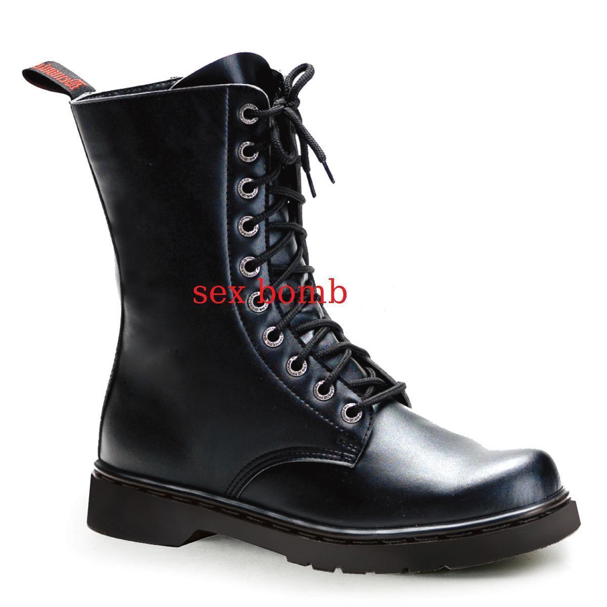 Stiefel HERREN absatz 2,5 cm SCHWARZ von 36 bis 46 SCHWARZ cm reißverschluss schnürsenkel 85dd7f