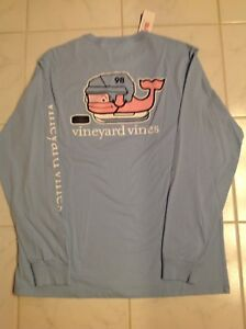 Vineyard-Vines-Men-039-s-Blue-Hockey-L-S-T-Shirt-Size-XL-NEW-W-Tag