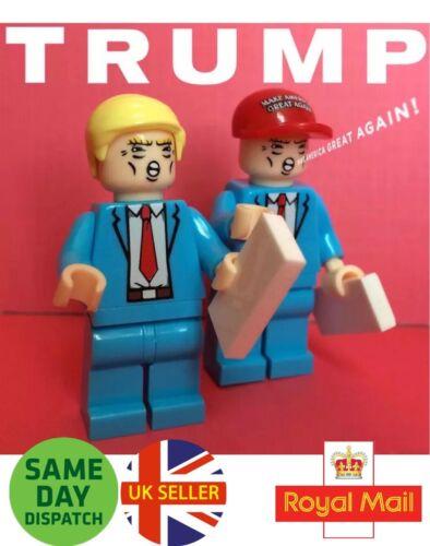 Donald Trump Mini Figure le président potus United States America Bleu Vendeur Britannique