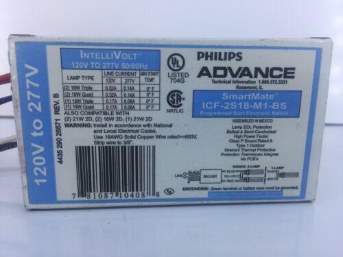 Phillips Advance ICF-2S18-M1-BS Smart-Mate Electronic Ballast NEW IntelliVolt