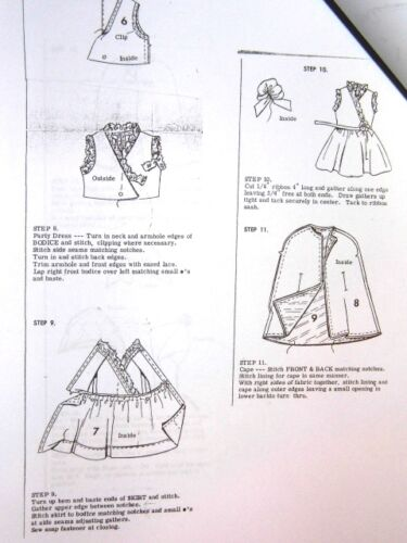 "Wardrobe Sewing Pattern #4528 fits vintage 6/"" Tutti Doll"
