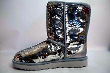 c1290ac9ec0 UGG Australia Sparkles BOOTS Womens Classic Short Sequin Silver Size 9