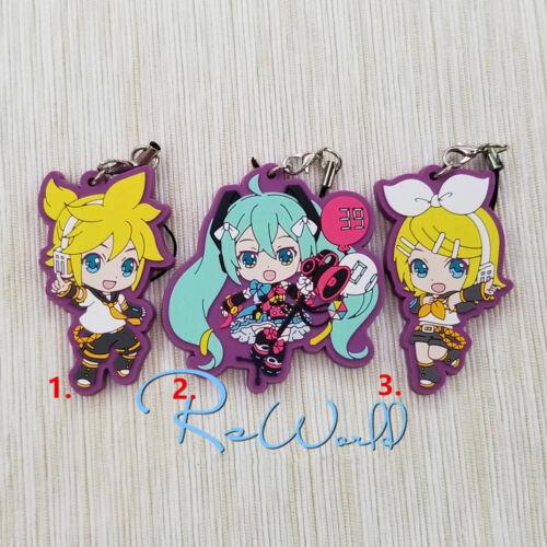 Anime Hatsune Miku//Kagamine rubber Keychain Key Ring Race Straps Cosplay