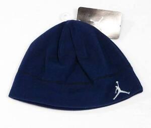 a466f956837 Nike Jordan Jumpman Logo Navy Blue Fleece Beanie Skull Cap Boys 8-20 ...