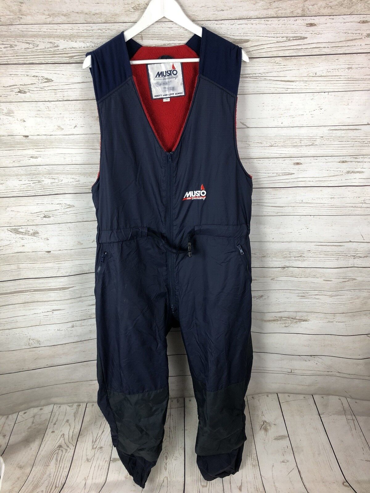 MUSTO Fleece Lined Sailing Yachting Waterproof Salopettes Trousers - XL - Men's