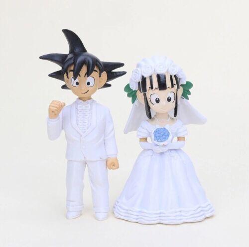 Dragon BALL Z SON GOKU Chichi matrimonio personaggio 7cm Anime Manga NUOVO