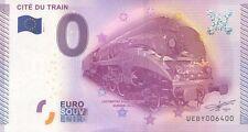 BILLET 0€ SOUVENIR TOURISTIQUE, N° rond 6400, CITE DU TRAIN, 2015