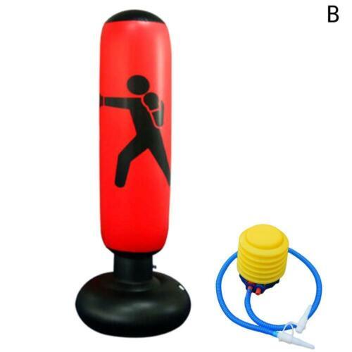 Inflatable Boxing Punching Bag Dummy Kick Training Tumbler Sandbag For Kid//Adult