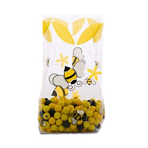 Details About New 25 A Little Honey Bee Bees Cello Cellophane Bags Includes Twist Ties