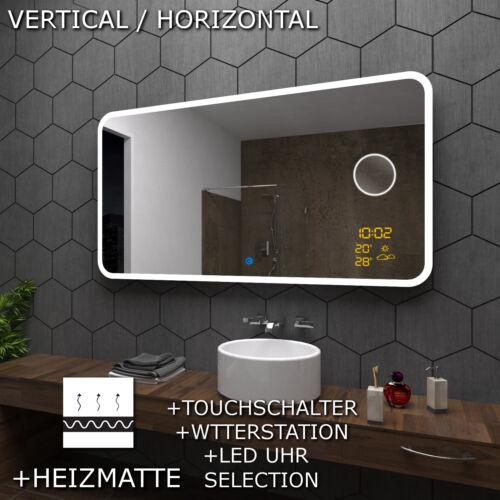 OSAKA SPIEGEL Badspiegel mit LED Beleuchtung mit KOSMETIKSPIEGEL und Touch