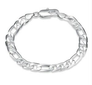 Figaroarmband Silber Armband Panzerarmband 20 Cm Herren Damen Armkette 6-8-12 Mm Reines Und Mildes Aroma