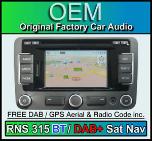 vw rns 315 sat nav stereo dab bluetooth vw transporter. Black Bedroom Furniture Sets. Home Design Ideas