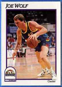 1991-92 Hoops Joe Wolf Denver Nuggets #57 736